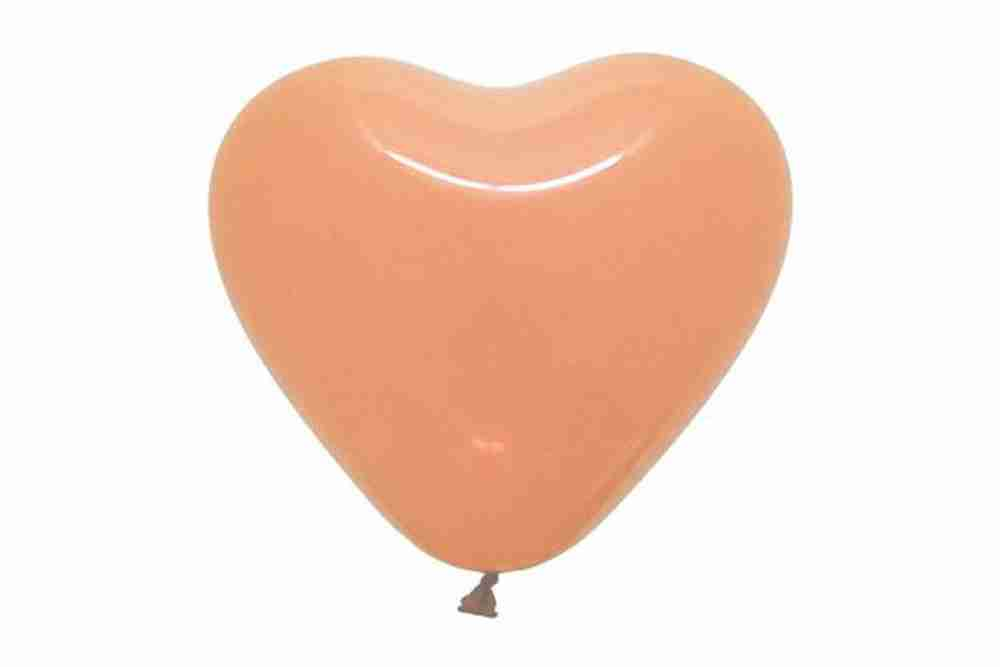 hartballon 25cm zalm