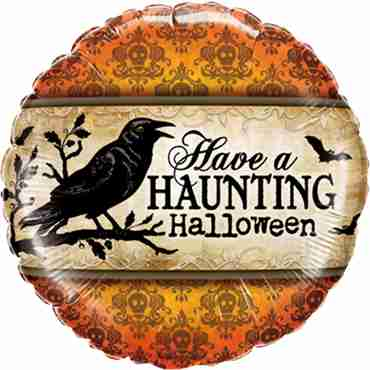 Have A Haunting Halloween Foil Round 18in/45cm
