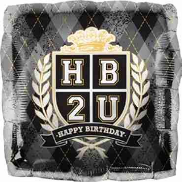 HB2U Crest Foil Square 18in/45cm