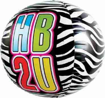 HB2U Zebra Sphere 17in/43cm