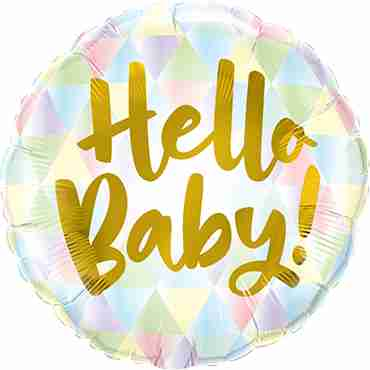Hello Baby! Foil Round 18in/45cm