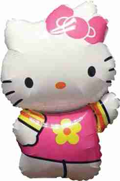 hello kitty summer vendor foil shape 22in/55cm x 30in/76cm