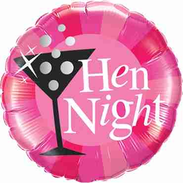 Hen Night Pink Foil Round 18in/45cm