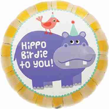 Hippo Birdie Foil Round 18in/45cm