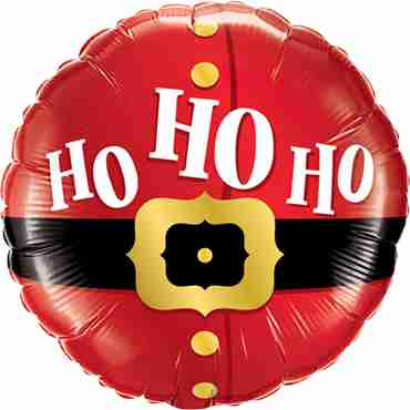 Ho Hp Ho Santa's Belt Foil Round 18in/45cm
