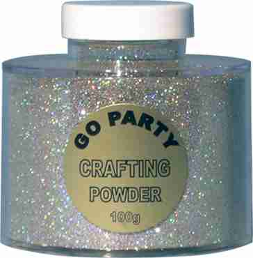 holographic silver glitter pot 100g