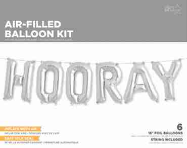 Hooray Kit Silver Foil Letters 16in/40cm