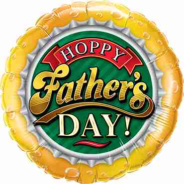 Hoppy Father's Day Foil Round 18in/45cm