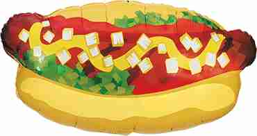 Hot Dog Foil Shape 32in/81cm