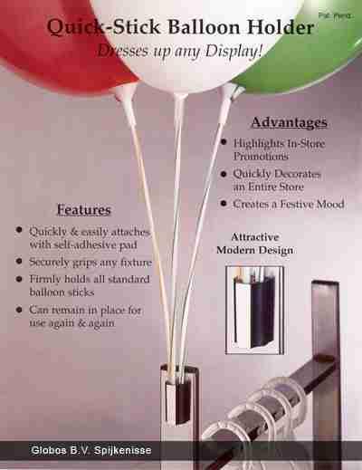 houder voor ballonstaafjes