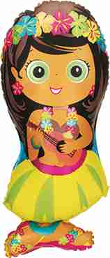 Hula Girl Foil Shape 34in/86cm