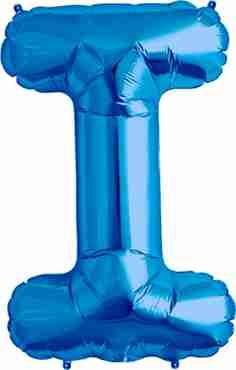 I Blue Foil Letter 34in/86cm