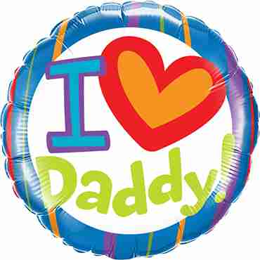 I (Heart) Daddy! Foil Round 18in/45cm