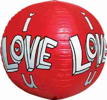 I Love U Doodles Sphere 17in/43cm