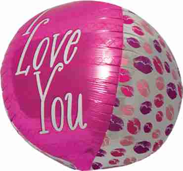 I Love You Kisses Sphere 17in/43cm