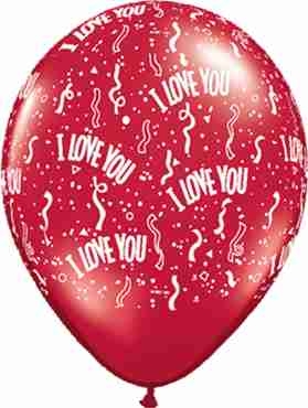I Love You Ruby Standard Red Latex Round 5in/12.5cm