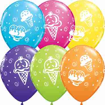 Ice Cream Treats Tropical Assortment Latex Round 11in/27.5cm