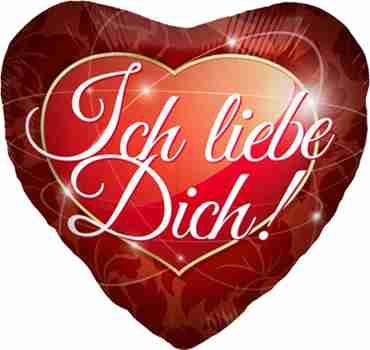 ich liebe dich! foil heart 18in/45cm