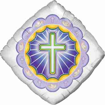 Illuminated Cross Foil Diamond 18in/45cm