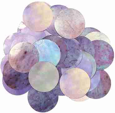 Iridiscent Metallic Round Foil Confetti 10mm 50g