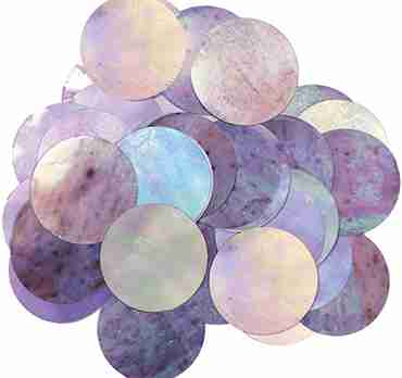 Iridiscent Metallic Round Foil Confetti 25mm 14g