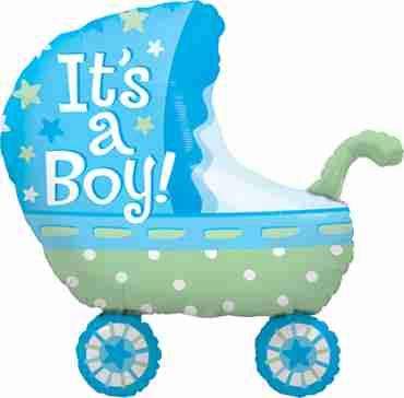 Its A Boy Baby Stroller Foil Shape 35in/87.5cm