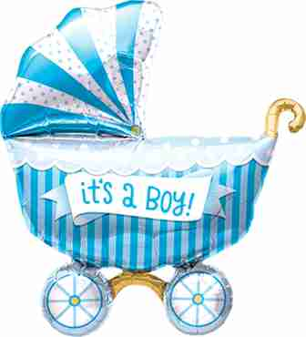 It's A Boy Buggy Foil Shape 40in/102cm