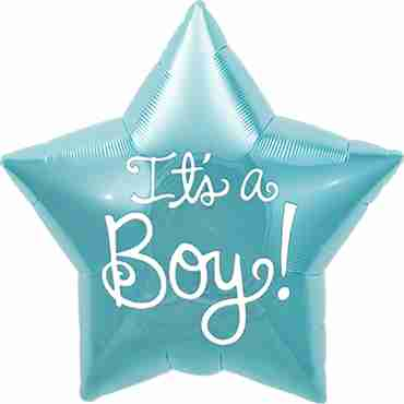 It's A Boy Foil Star 9in/22.5cm