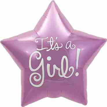It's A Girl Foil Star 9in/22.5cm