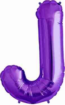 J Purple Foil Letter 34in/86cm