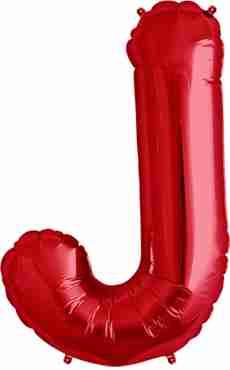 J Red Foil Letter 34in/86cm