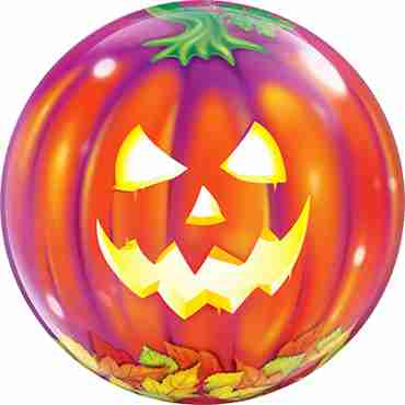 Jack O Lantern Single Bubble 22in/55cm