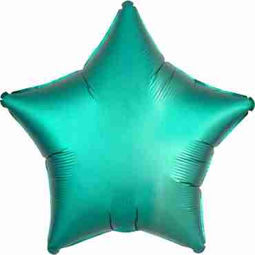 Jade Satin Luxe Foil Star 17in/43cm