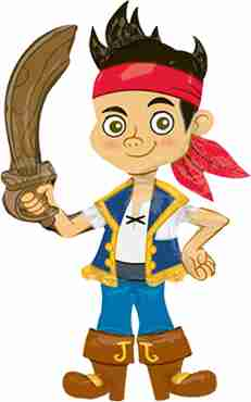 jake and the neverland pirates airwaker 30in/76cm x 48in/121cm