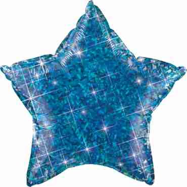 Jewel Blue Holographic Foil Star 20in/50cm