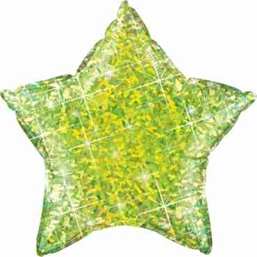 Jewel Lime Holographic Foil Star 20in/50cm