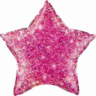 Jewel Magenta Holographic Foil Star 20in/50cm