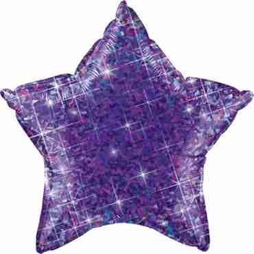 Jewel Purple Holographic Foil Star 20in/50cm
