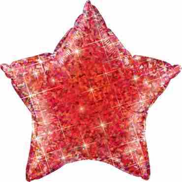 Jewel Red Holographic Foil Star 20in/50cm