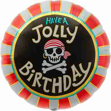 Jolly Birthday Foil Round 18in/45cm