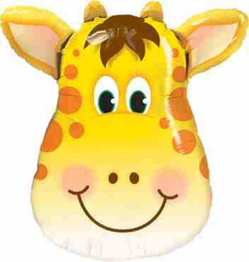 jolly giraffe foil shape 32in/80cm