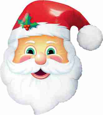 Jolly Old Saint Nick Foil Shape 32in/80cm