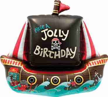 jolly pirate ship foil shape 36in/91cm