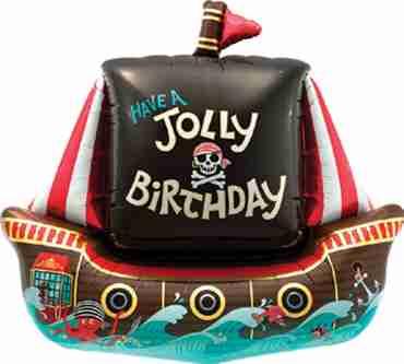 Jolly Pirate Ship Foil Shape 36in/91cm