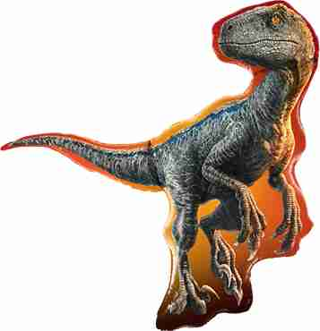 Jurassic World: Raptor Foil Shape 38in/97cm