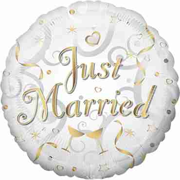 just married foil round 18in/45cm