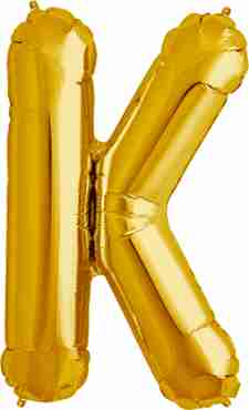 K Gold Foil Letter 16in/40cm