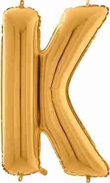K Gold Foil Letter 26in/66cm