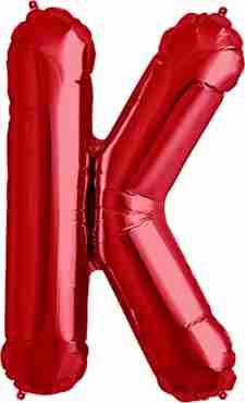 K Red Foil Letter 34in/86cm