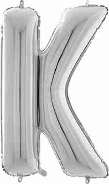 K Silver Foil Letter 26in/66cm